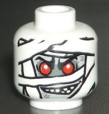 LEGO Mummy Minifigure Head Halloween Scary Glow in the Dark Face 9462