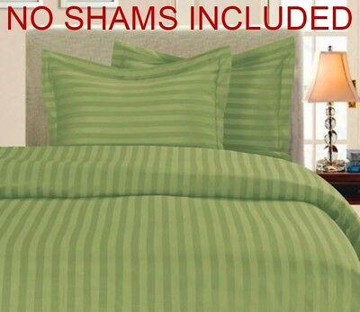 Aroma Sammlung Hier 100% E Baumwolle 400 Tc Bettdecke Nur King In Cal 104x90 ~ Schatten Streifen Grün Duftendes
