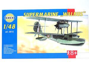 SMER-Super-marine-034-Walrus-034-britanica-vuelo-Boot-Royal-Air-Force-Kit-1-48-0815