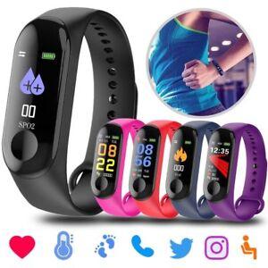 M3 Bluetooth Smart Watch Waterproof Heart Rate Monitor Pedometer Fitness Tracker