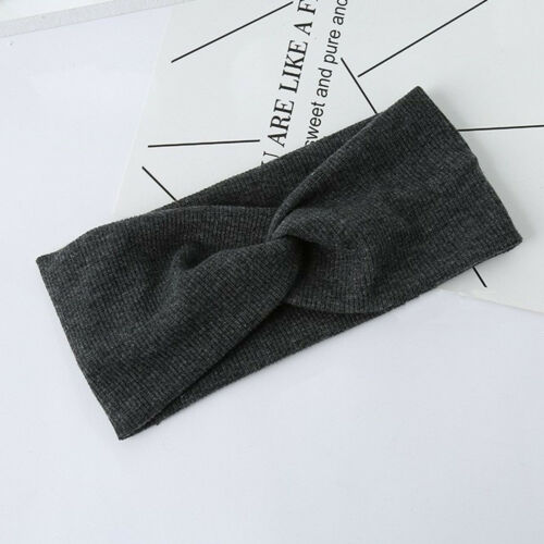 Haarband Damen Stirnband winter Stretch Bandana Kopfschmuck strick Sport Knoten