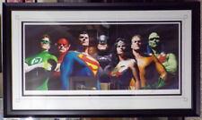 Justice League ORIGINAL SEVEN Fine Art Lithograph AP #1 SIGNED Alex Ross w COA
