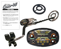 Camo Ls Bounty Hunter Metal Detector With 8 Inch Coil + Free Coil Cover