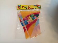 Happy Birthday Banner party decorations over 7 feet long new in pack clown