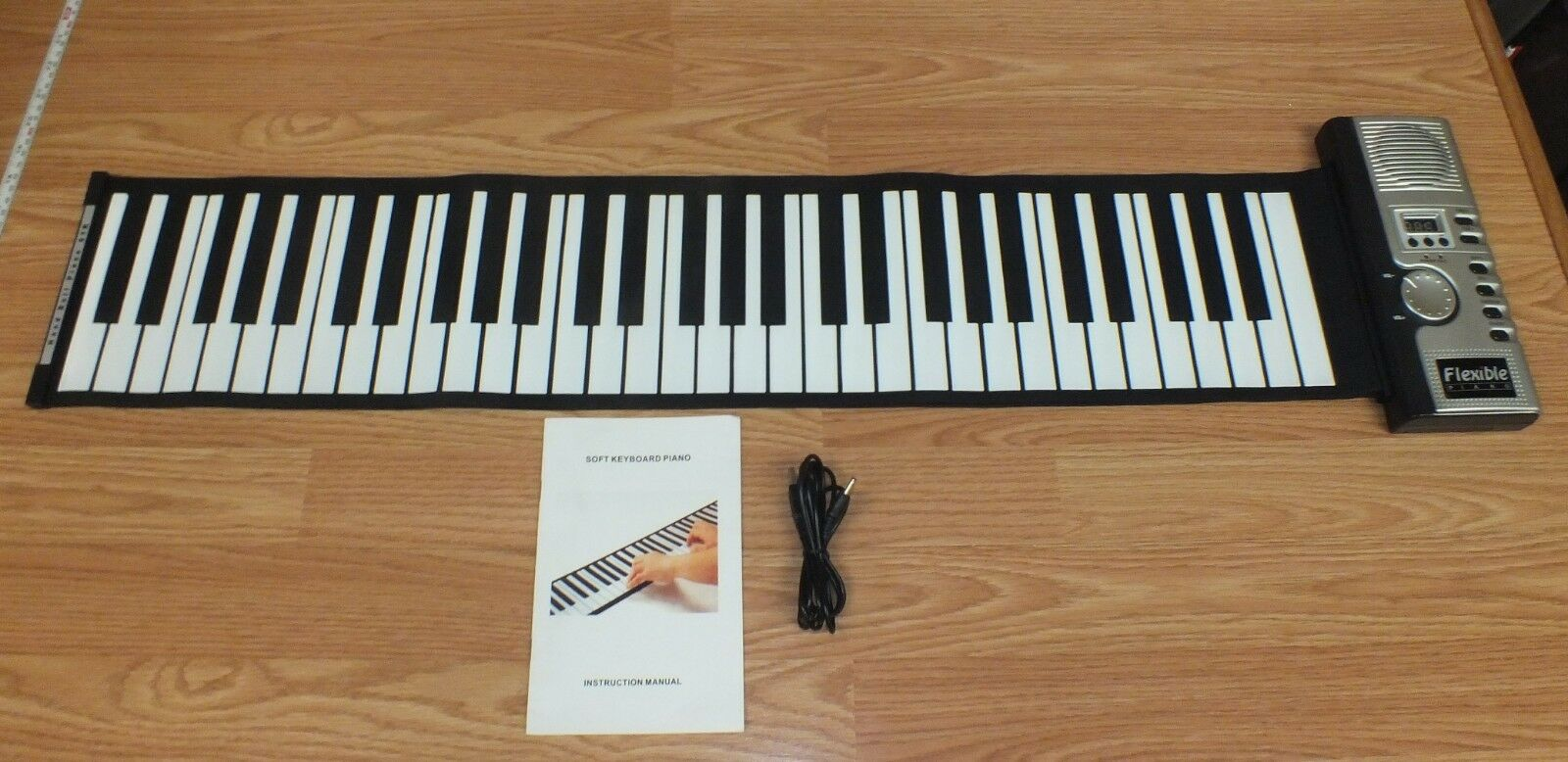 61 MIDI Soft Keyboard Piano Musical Toy With Headphone Connection  READ