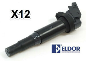 Ignition Coil with Spark Plug Connector Eldor 750-990012 12 13 8 643 360