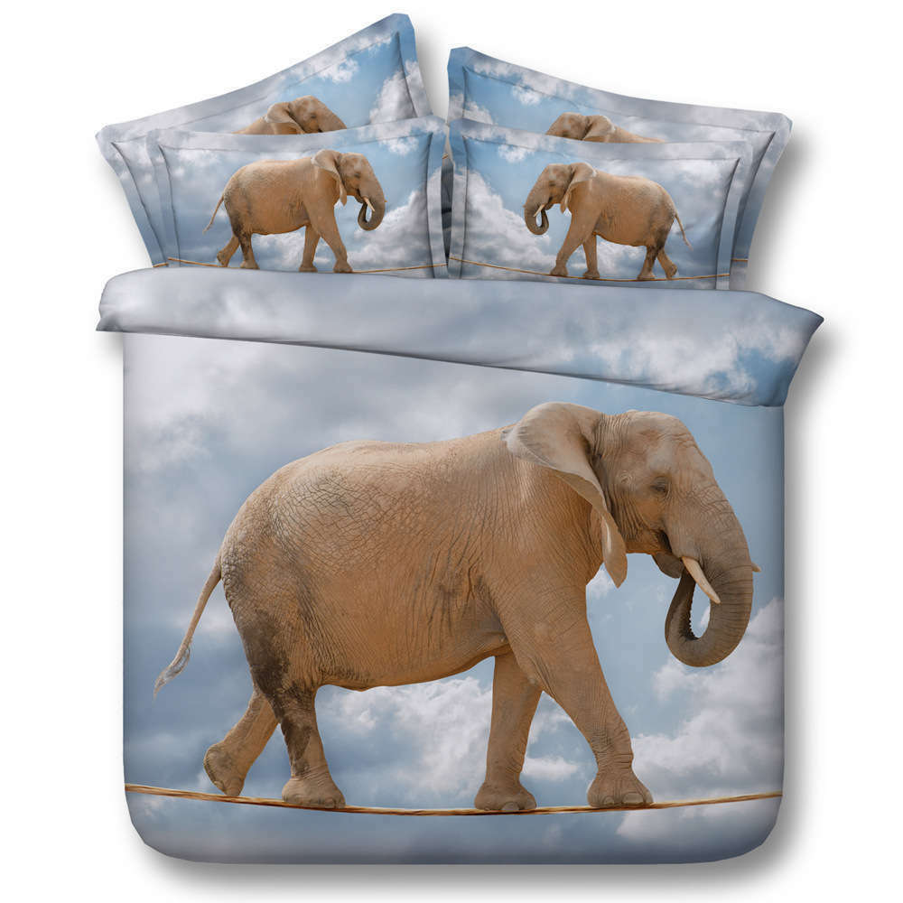 Elephant Walk Rope 3D Printing Duvet Quilt Doona Covers Pillow Case Bedding Sets