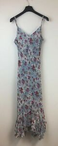N318-Per-Una-Women-039-s-Blue-Floral-Dress-Size-14-New-With-Tags