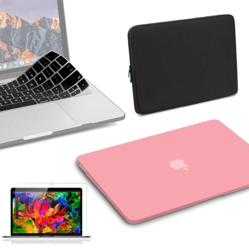 """For Macbook Pro 13/"""" A1706//A1708//A1989 Premium Rubberized Pink Case//Keyboard"""