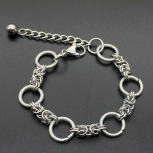 Fashion-Men-039-s-Punk-Stainless-Steel-Curb-Link-Chain-Wristband-Clasp-Cuff-Bracelet