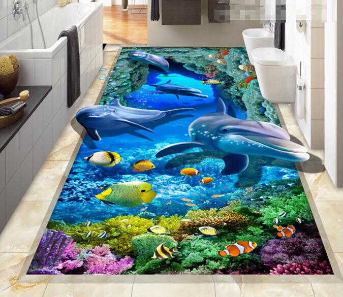 3D Submarine World 3 Floor WallPaper Murals Wall Print Decal 5D AJ WALLPAPER