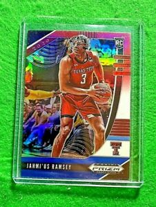JAHMI'US RAMSEY PRIZM ROOKIE CARD RED WHITE BLUE RC SP SACRAMENTO KINGS 2020 RC