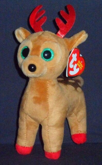 f3cc5a6662e Ty Beanie Babies 37238 Tinsel The Christmas Reindeer for sale online ...
