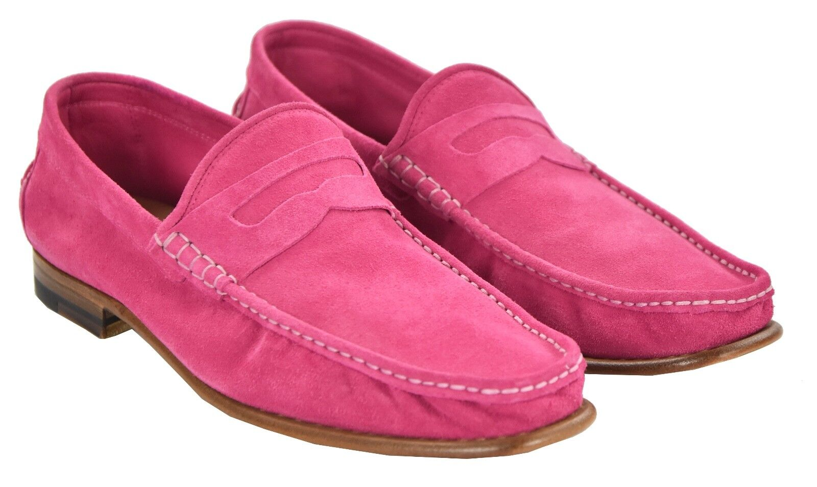 NEW KITON NAPOLI LOAFERS SHOES 100% LEATHER SUEDE SIZE 9.5 US 42.5 O68