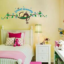 Removable Baby Nursery Bedroom Sweet Dream Monkey Wall Sticker Decal DIY Decor