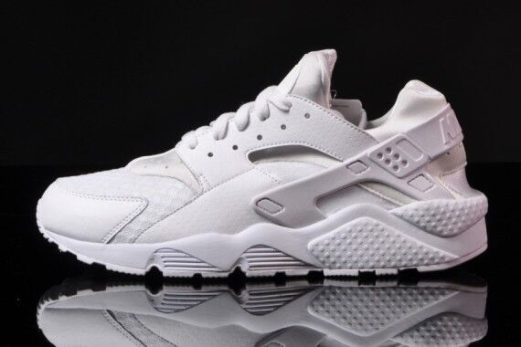Nike Air Huarache Triple White size 14.  318429 111 flight trainer black red sd Wild casual shoes
