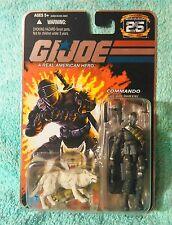 SNAKE EYES w/ TIMBER 1985 Commando IGI joe 25th anniversary foil card figure