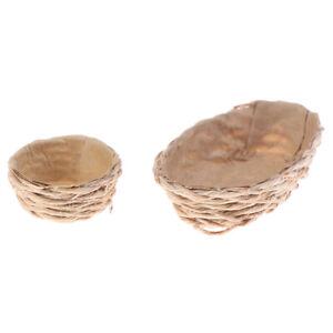 1-12-Dollhouse-Miniature-Straw-Rope-Woven-Basket-Bread-Basket-Kitchen-Access-Pf