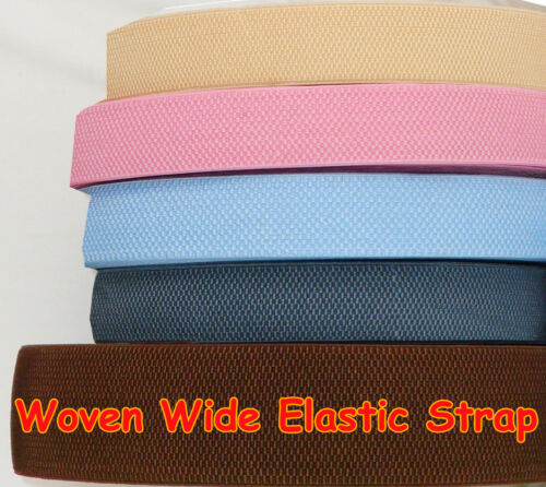 Wide Woven Elastic Ladies Waist Belt Dress Making Flexible Strap Sewing Tape
