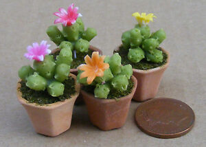 1-12-Scale-Single-Clay-Cactus-amp-Pot-Tumdee-Dolls-House-Plant-Garden-Accessory-T5