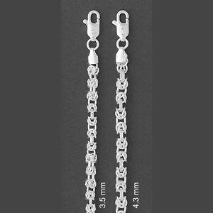 ITALY-925-Sterling-Silver-BYZANTINE-Chain-Necklace-BYZANTINE-Chain-Bracelet