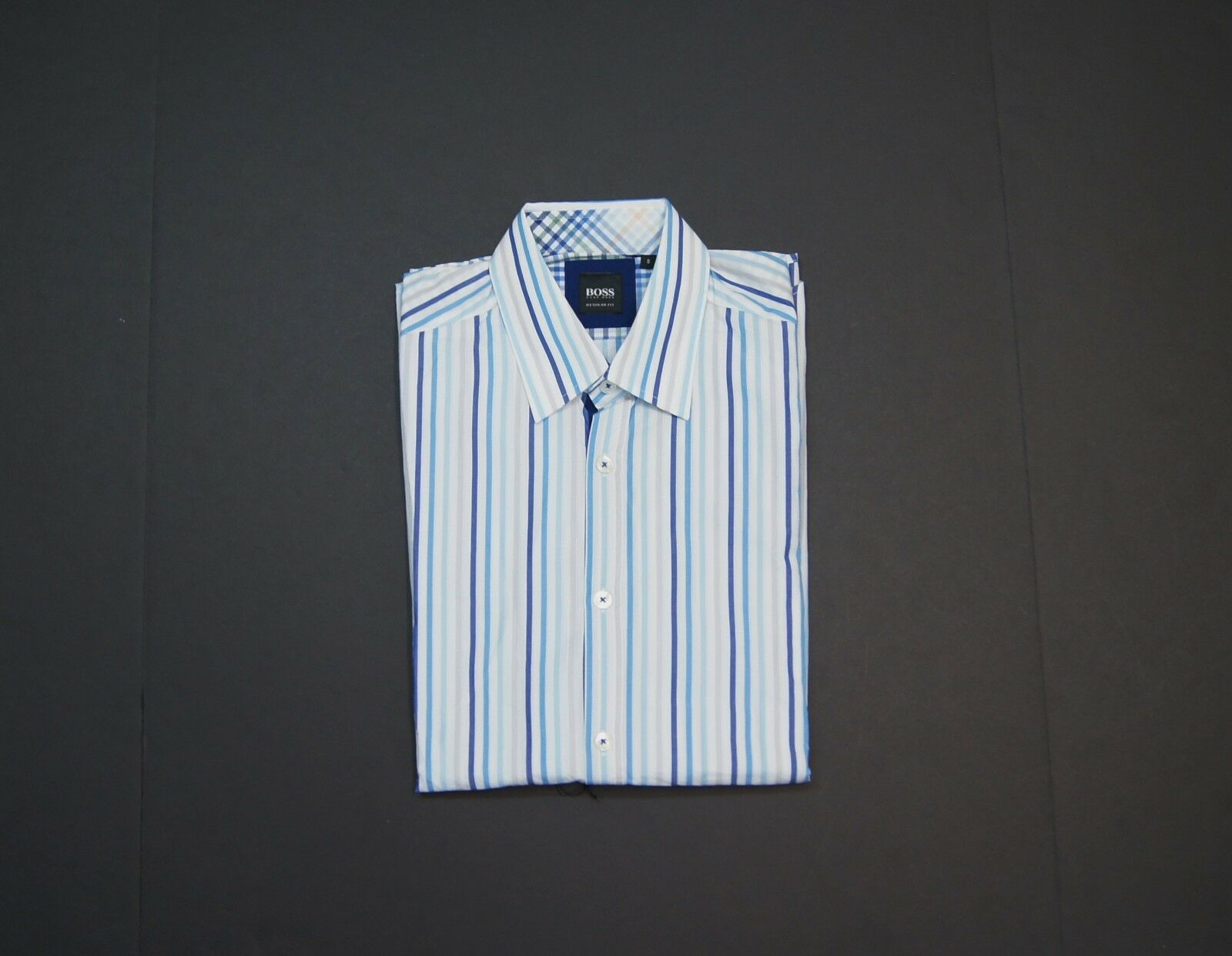 HUGO BOSS  Obert Regular Fit Multi-color Stripe Casual Shirt size S NEW NWT