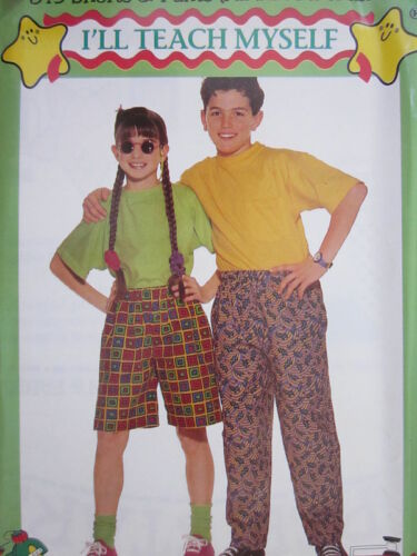 813 Butterick SEWING Pattern I/'LL TEACH MYSELF Pants Shorts Tapered Elastic OOP