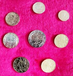 Série FRANCE 2021 UNC 1 cent à 2 euros + offert 1,2,5 centime SAINT MARIN 2006