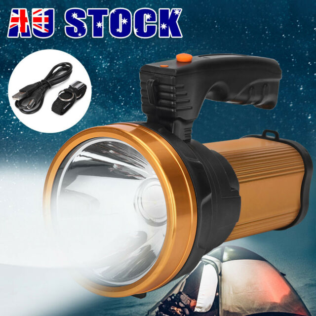 Camping Rechargeable Torch LED Handheld Searchlight Hiking Spotlight Torch NEW