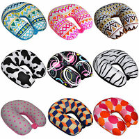 Ultralight Micro Beads U Shaped Neck Pillow Black White Travel Mate Head Support