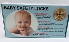 10 Pcs Baby Kids Safety Lock Box Drawer Cupboard Cabinet Fridge Door Child Proof