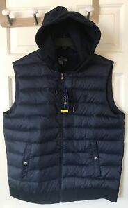 a27936603  168 NWT Mens Polo Ralph Lauren Paneled Down Performance Hoodie Vest ...