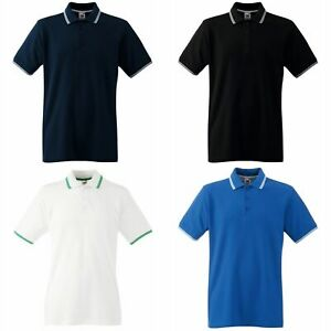 Polo-a-manches-courtes-Fruit-Of-The-Loom-pour-homme-BC1378