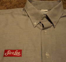 Mens SARA LEE Bakery Long Sleeve Oxford Uniform Shirt Riverside 17.5 - 34/35 XXL