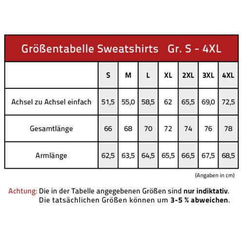 Sweatshirt unisex Shirt S M L Xl Xxl 3Xl 4Xl Rueckendruck Tattoo 10113 rot
