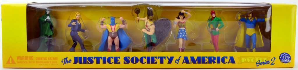 THE JUSTICE SOCIETY OF AMERICA SERIES 2 boxed figure set DC DIRECT