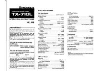 Pioneer Tx-710-l Receiver Owners Manual