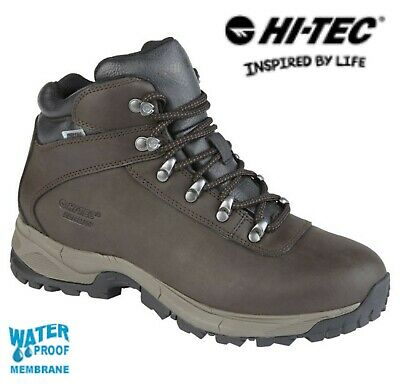 2c91d54830e HI-TEC EUROTREK Ladies Leather Waterproof Hiking Walking Boots Size 4 5 6 7  8 | eBay
