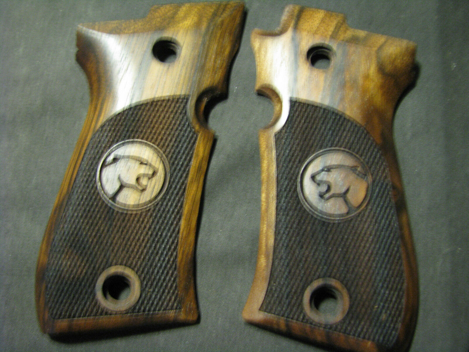 Beretta Cheetah 81 81B 81BB ONLY Pistol Grips French Walnut Chkd w CHEETAH LOGO