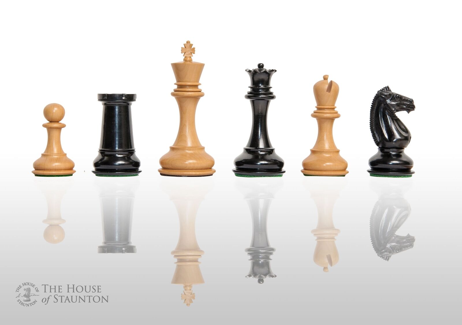 The Challenger Series Luxury Chess Set - Pieces Only - 4.4  King - Genuine Ebony