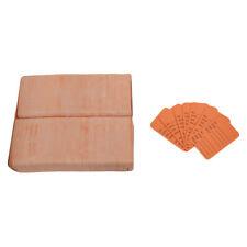 Orange 1000 Pcs Large Perforated Hang Tags Coupon Price Paper Label Card