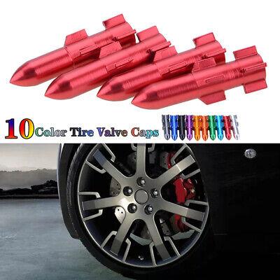 1xAluminum Tire Wheel Rims Stem Air Valve Cap Tyre Cover Red Car Bike Truck A5I3