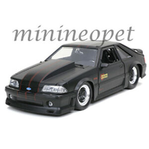 Jada-Bigtime-Muscle-32304-1989-Ford-Mustang-GT-1-24-Diecast-Modelo-Negro-Mate