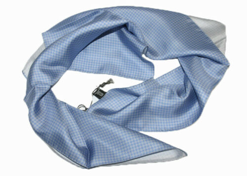 Corneliani Homme 100/% soie bleu col écharpe foulard cadeau pour lui Made in Italy Neuf avec étiquettes