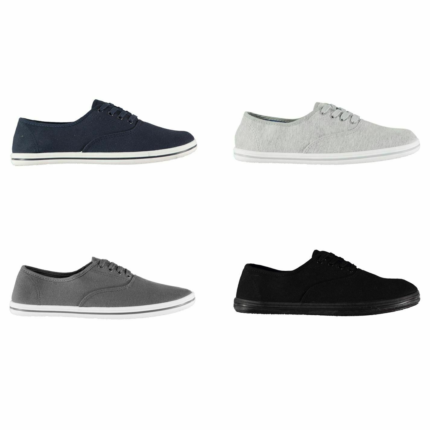 Slazenger Canvas Slip On Shoes Womens Athleisure Trainers Sneakers Footwear A Wide Selection Of Colours And Designs Women's Shoes