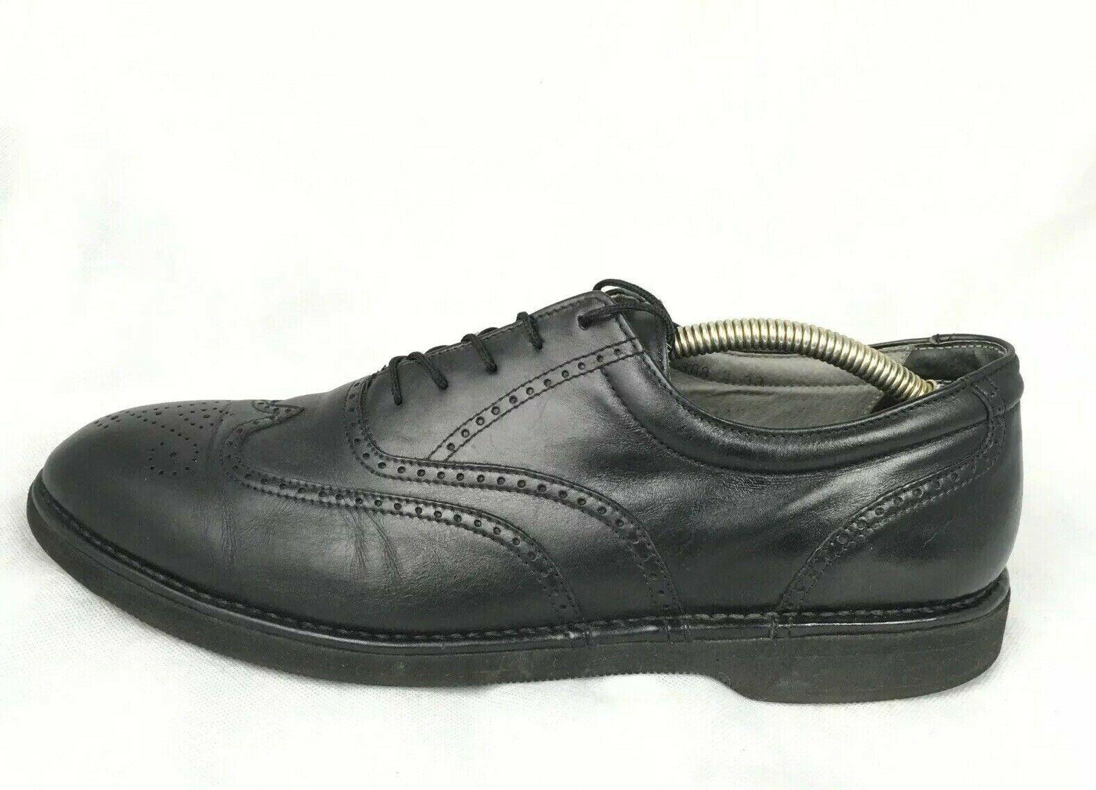 Rockport DresSports M3678 Black Leather Vibram Brogue Wingtip Shoes Sz 13 N