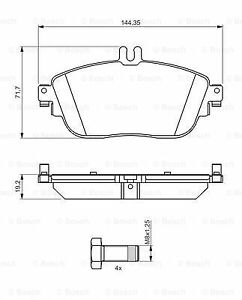 Bosch Front Brake Pad Set 0986494245 BP1307-5 YEAR WARRANTY