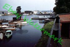 Erie PA Maritime Supply Co Texaco Gas Bay Harbor Marina 1959 Kodak 35mm Slide