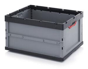 2er-Set-Faltbox-von-Auer-FB-86-445-Stapelkiste-Klappbox-Transportkiste-Box-Kiste