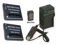 2 Batteries + Charger For Panasonic Dmc-fh2p Dmc-fh2r Dmc-fh2s Dmc-fh2k Dmc-fp5s